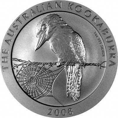 Reverse of 2008 Australian Silver Kookaburra