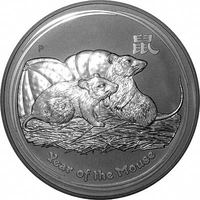 Reverse of 2008 Silver Year of the Rat or Mouse Bullion Coin - Series 2