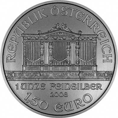2008 Austrian One Ounce Silver Philharmonica