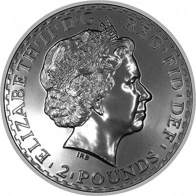 Obverse of 2008 Proof Silver Britannia