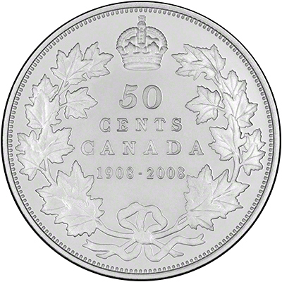 Reverse of 2008 Canada Silver 50 Cents