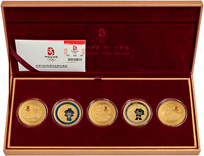 2008 Beijing Olympics Five Coin Medallion Set