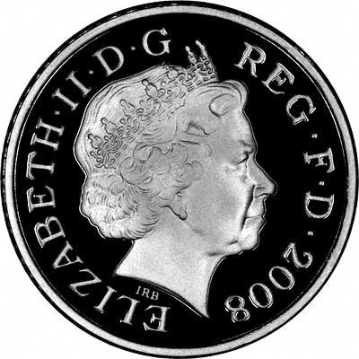 Obverse of 2008 Silver Proof  Five Pence
