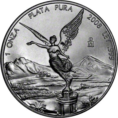 2008 One Ounce Mexican Silver Libertad