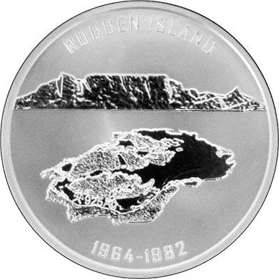 Reverse of 2008 Nelson Mandela Silver Medallion