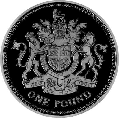 Reverse of Silver Proof 2008 Royal Arms One Pound