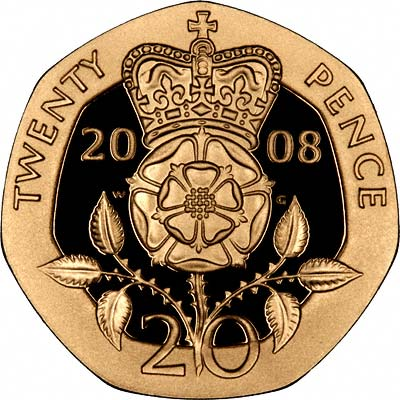 2008 Gold Proof Twenty Pence