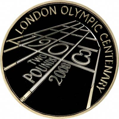 Reverse of 2008 Two Pound Silver Proof Coin