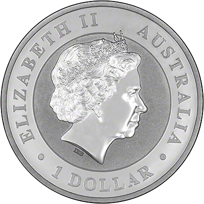 Obverse of 2009 Australian One Ounce Silver Kookaburra