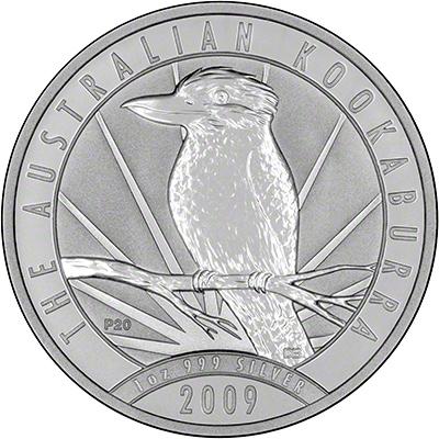 Reverse of 2009 Australian One Ounce Silver Kookaburra