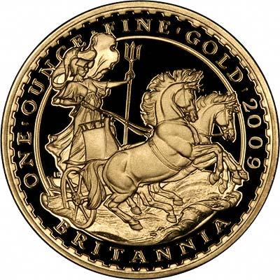 Reverse of 2009 Gold Britannia