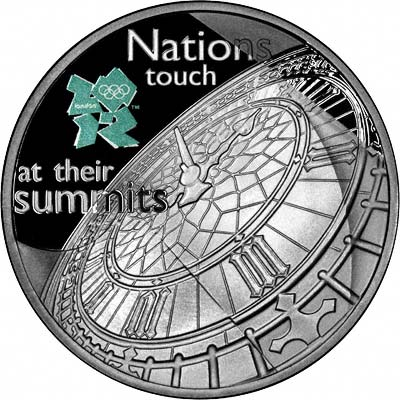 Reverse of 2009 Big Ben Silver Proof £5 Crown