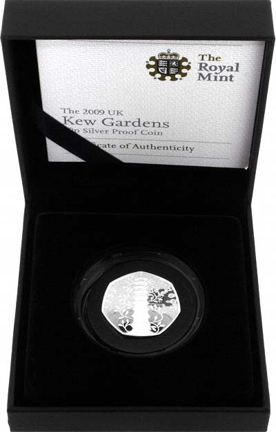 2009 Silver Proof Fifty Pence in Presentation Box