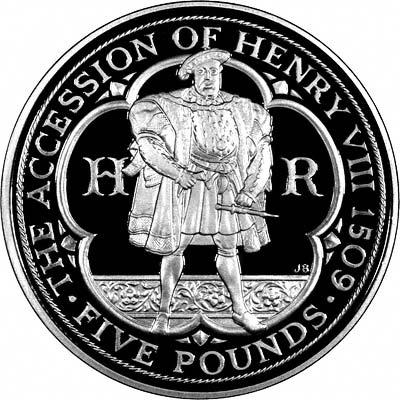 Reverse of 2009 Silver Proof Henry VIII Crown