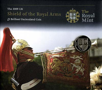 Shield of Arms Pound Coin Specimen in Folder