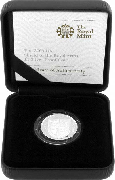 Silver Proof Shield of Arms Pound Coin