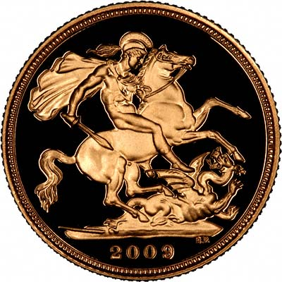 Reverse of Proof 2009 Gold Sovereign