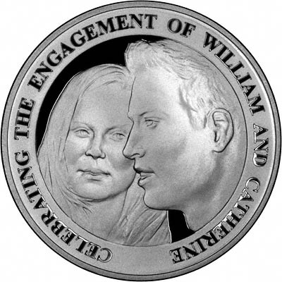 2010 Royal Engagement Silver Proof Five Pound Coin