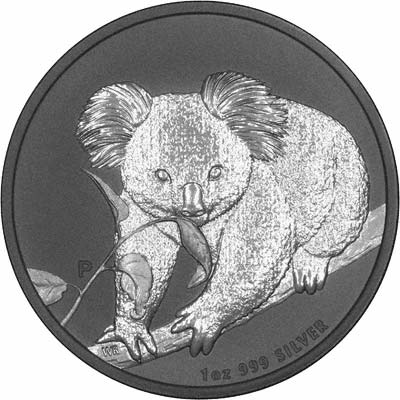 Reverse of 2010 Australian One Ounce Silver Koala