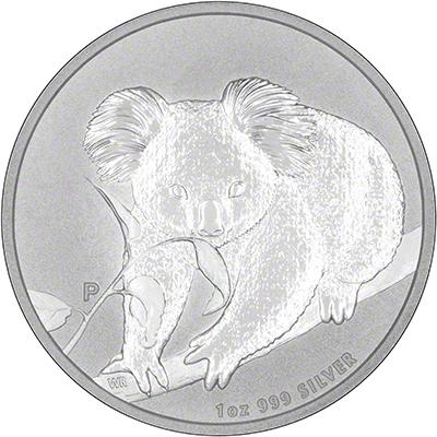 Obverse of 2010 Australian Silver Koala