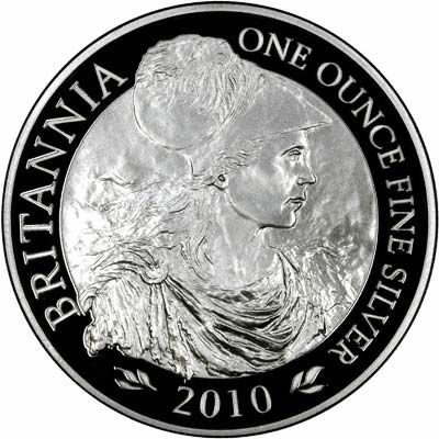 Reverse of 2010 Silver Proof Britannia
