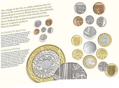 2010 Uncirculated Coin Set in Folder