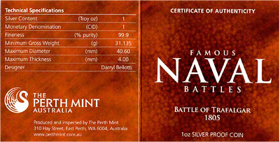 2010 Famous Naval Battles Series 1oz Silver Proof Coins