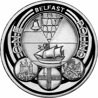 2010 Uk Cities London And Belfast One Pound Coins