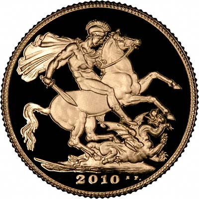 Reverse of 2010 Gold Sovereign