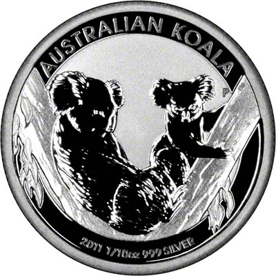 2011 Australian Silver Koala Tenth Ounce Coin