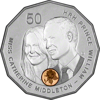 Reverse of 2011 Australia Royal Wedding Silver Proof Coin