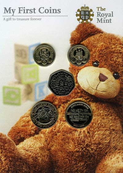 Baby Gift Gold Coin : British baby coin sets
