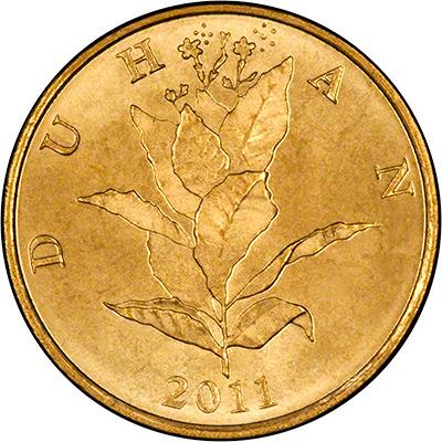 Reverse of 2011 Croatian 10 Lipa