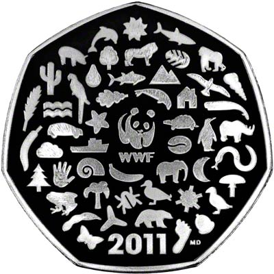 2011 Centenary 50th Anniversary Of Wwf Fifty Pence