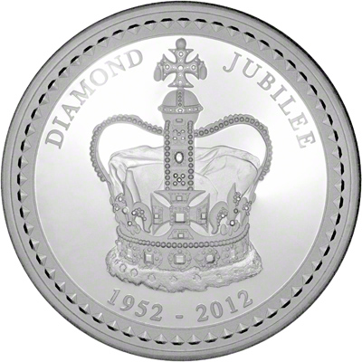 Reverse of 2012 Australian Diamond Jubilee One Kilo Silver Coin