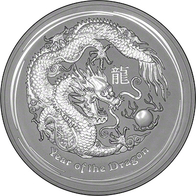 Reverse of 2012 Australian Year Of The Dragon One Ounce Silver Bullion Coin- Series 2