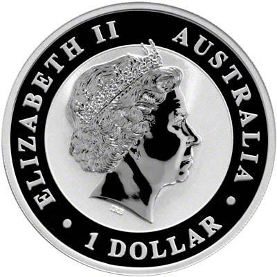 Obverse of 2012 Australian Silver Kookaburra
