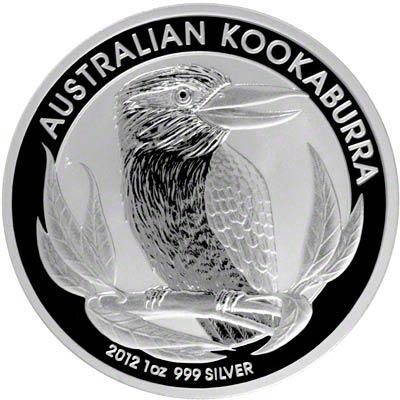 Reverse of 2012 Australian One Ounce Silver Kookaburra