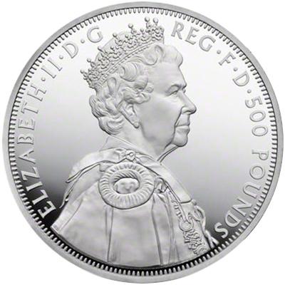 79d483c3f Obverse of 2012 Diamond Jubilee One Kilo Silver Coin