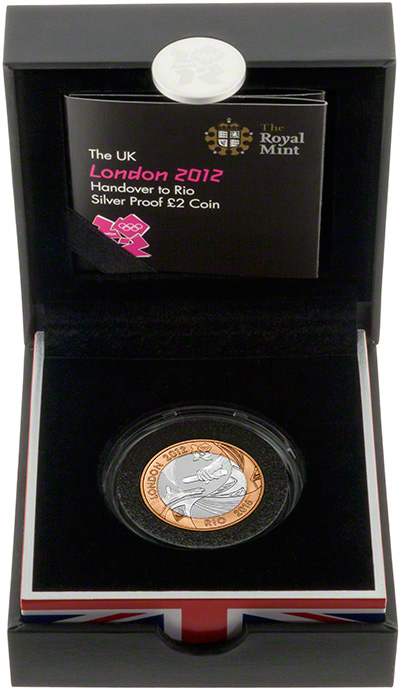 2012 Olympic Games Handover to Rio  Silver Proof Two Pound Coin in Presentation Box