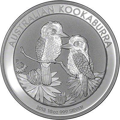 Reverse of 2013 Australian Ten Ounce Silver Kookaburra