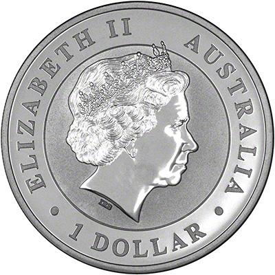 Obverse of 2013 Australian Silver Kookaburra