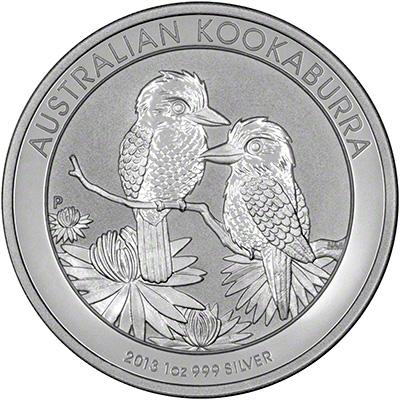 Reverse of 2013 Australian One Ounce Silver Kookaburra