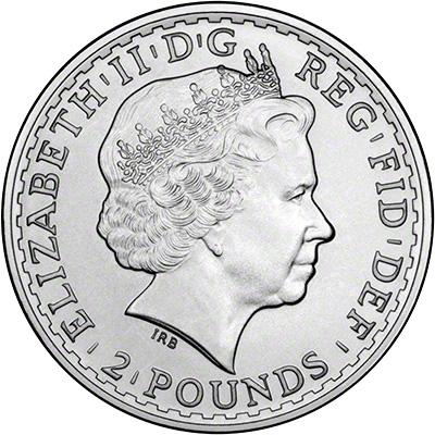 Obverse of 2013 Bullion Silver Britannia
