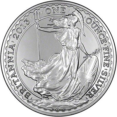 Reverse of 2013 Bullion Silver Britannia