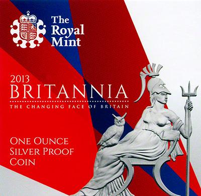 2013 Silver Proof Britannia Booklet