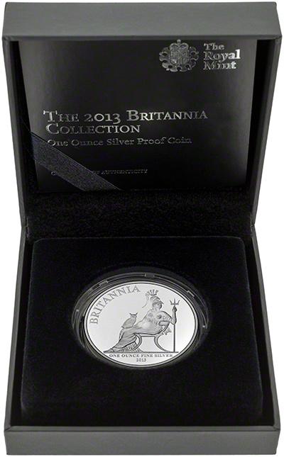 2013 Silver Proof Britannia in Presentation Box