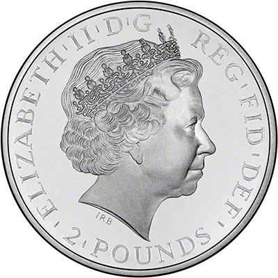 Obverse of 2013 Silver Proof Britannia