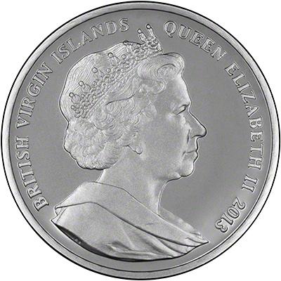 British Virgin Islands John F Kennedy Anniversary Silver Dollar