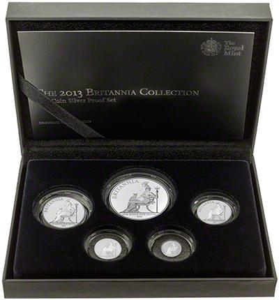 2013 Britannia 5 Coin Silver Proof Collection